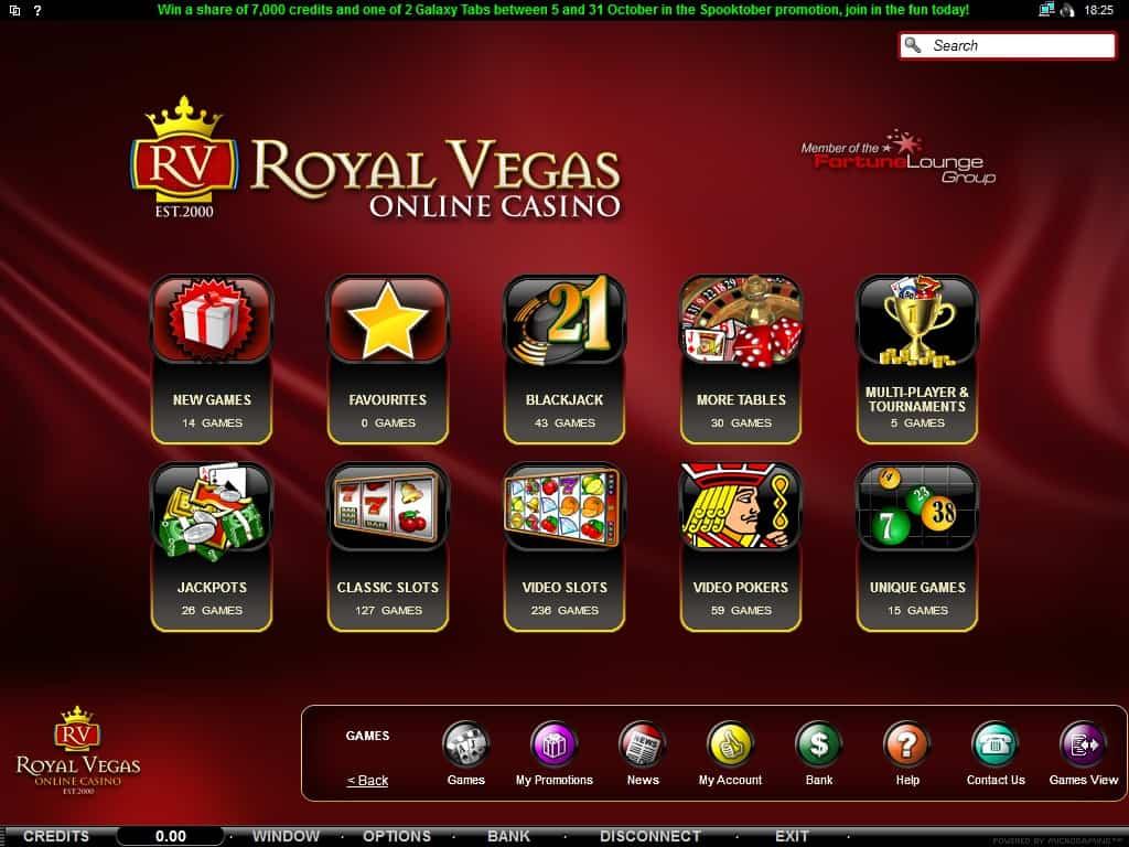 Bônus Royal Vegas Cassino