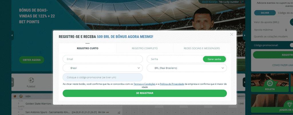 bonus 22Bet Brasil