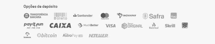 Metodos de pagamento e Saque
