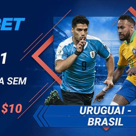 Uruguai x Brasil – Aposta Sem risco de 10 USD