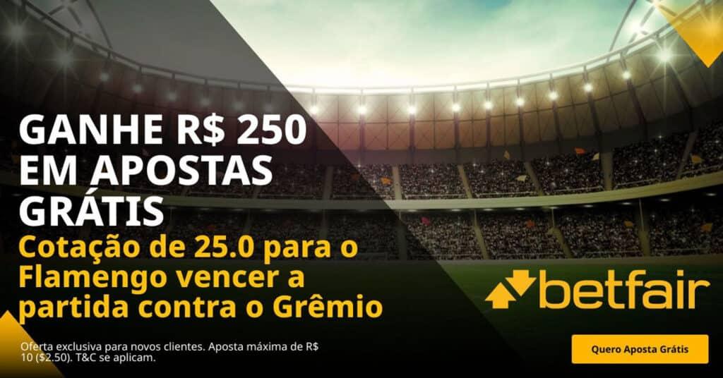 Ganhe 200 reais grátis se o Flamengo vencer o Grêmio