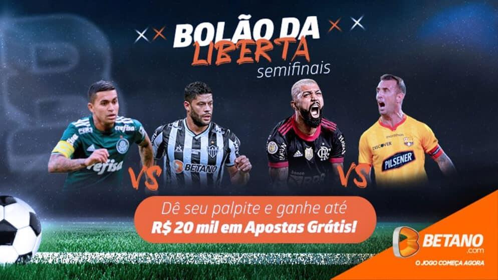 Bolão Libertadores – 20 mil reais em apostas grátis