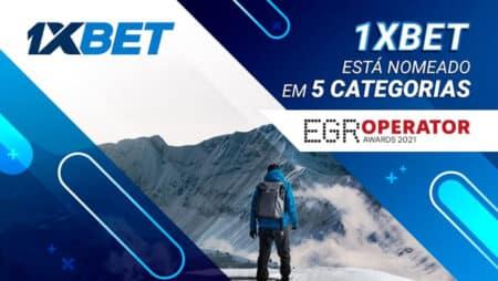 1xBet indicada em 5 categorias do prestigiado EGR Operator Awards