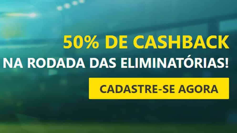 Receba Cashback de 50 reais na rodada das eliminatórias
