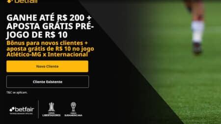 Aposta grátis de 10 reais para Atlético-MG x Internacional
